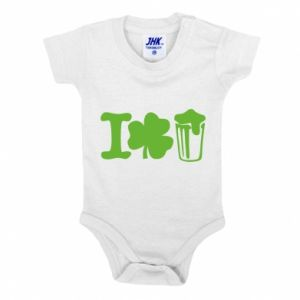 Baby bodysuit I love beer St.Patrick 's Day - PrintSalon