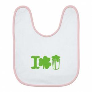 Bib I love beer St.Patrick 's Day - PrintSalon