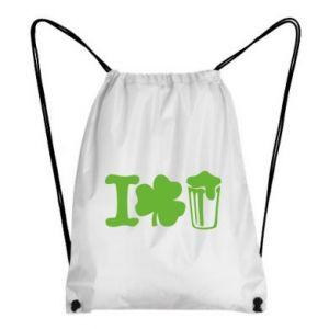 Backpack-bag I love beer St.Patrick 's Day - PrintSalon