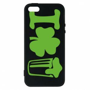 Phone case for iPhone 5/5S/SE I love beer St.Patrick 's Day - PrintSalon