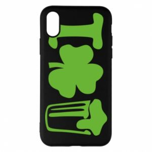 Phone case for iPhone X/Xs I love beer St.Patrick 's Day - PrintSalon