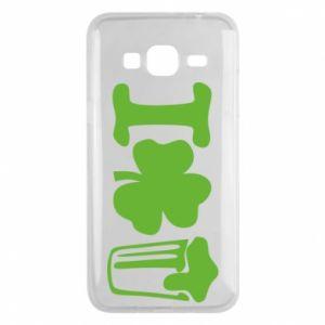Phone case for Samsung J3 2016 I love beer St.Patrick 's Day - PrintSalon