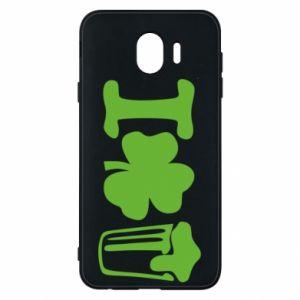 Phone case for Samsung J4 I love beer St.Patrick 's Day - PrintSalon