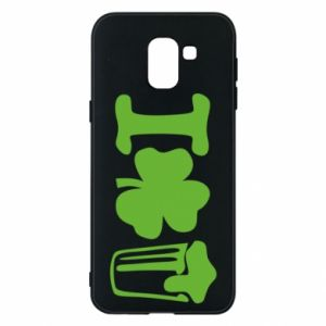 Phone case for Samsung J6 I love beer St.Patrick 's Day - PrintSalon