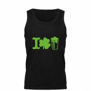 Men's t-shirt I love beer St.Patrick 's Day - PrintSalon