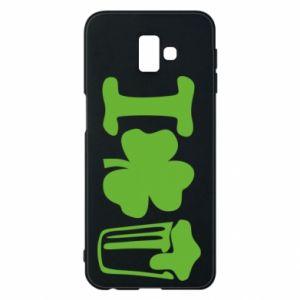 Phone case for Samsung J6 Plus 2018 I love beer St.Patrick 's Day - PrintSalon