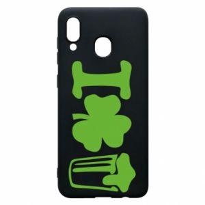 Phone case for Samsung A30 I love beer St.Patrick 's Day - PrintSalon