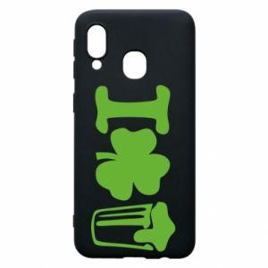 Phone case for Samsung A40 I love beer St.Patrick 's Day - PrintSalon
