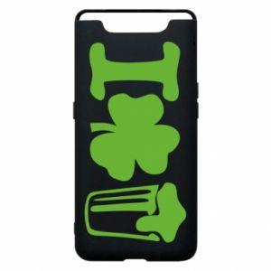 Phone case for Samsung A80 I love beer St.Patrick 's Day - PrintSalon