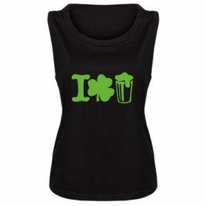 Women's t-shirt I love beer St.Patrick 's Day - PrintSalon