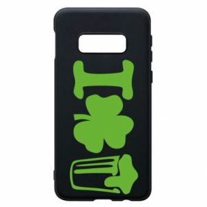Phone case for Samsung S10e I love beer St.Patrick 's Day - PrintSalon