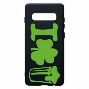 Phone case for Samsung S10+ I love beer St.Patrick 's Day - PrintSalon