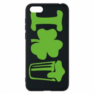Phone case for Huawei Y5 2018 I love beer St.Patrick 's Day - PrintSalon