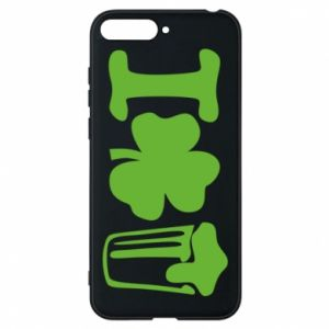 Phone case for Huawei Y6 2018 I love beer St.Patrick 's Day - PrintSalon