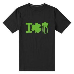 Men's premium t-shirt I love beer St.Patrick 's Day - PrintSalon