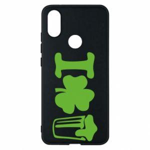 Phone case for Xiaomi Mi A2 I love beer St.Patrick 's Day - PrintSalon