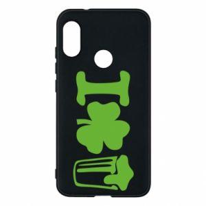 Phone case for Mi A2 Lite I love beer St.Patrick 's Day - PrintSalon