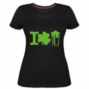 Women's premium t-shirt I love beer St.Patrick 's Day - PrintSalon