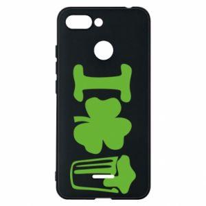 Phone case for Xiaomi Redmi 6 I love beer St.Patrick 's Day - PrintSalon