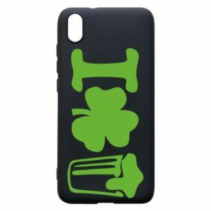 Phone case for Xiaomi Redmi 7A I love beer St.Patrick 's Day - PrintSalon
