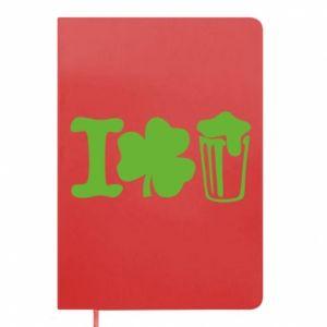 Notepad I love beer St.Patrick 's Day - PrintSalon