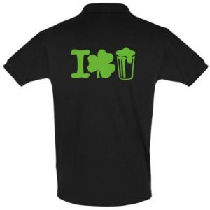 Men's Polo shirt I love beer St.Patrick 's Day - PrintSalon