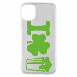 Phone case for iPhone 11 Pro I love beer St.Patrick 's Day - PrintSalon