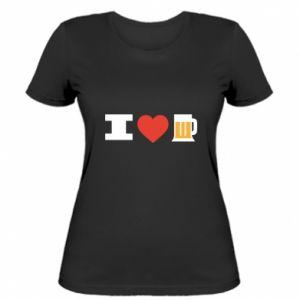 Women's t-shirt I love beer