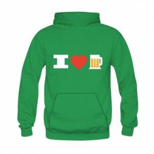 Kid's hoodie I love beer