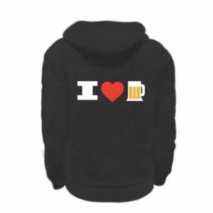 Kid's zipped hoodie % print% I love beer