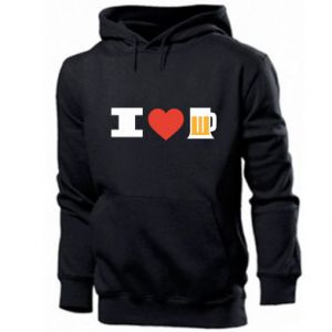 Męska bluza z kapturem I love beer