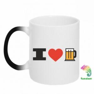 Kubek-kameleon I love beer