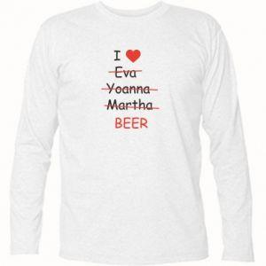 Koszulka z długim rękawem I love only beer