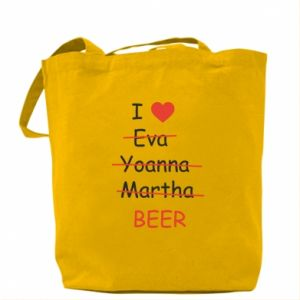 Torba I love only beer - PrintSalon