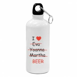 Water bottle I love only beer