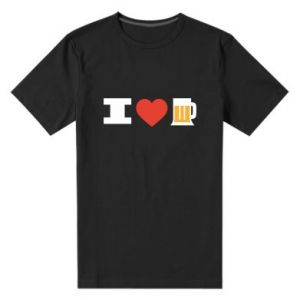 Men's premium t-shirt I love beer