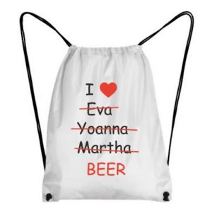 Backpack-bag I love only beer