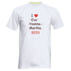 Men's sports t-shirt I love only beer