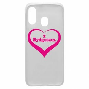 Phone case for Samsung A40 I love Bydgoszcz