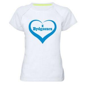 Damska koszulka sportowa I love Bydgoszcz