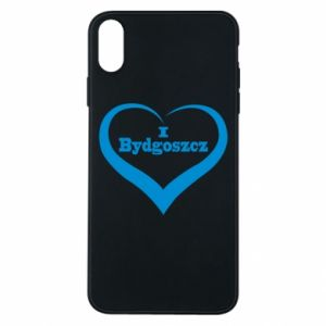 Phone case for iPhone Xs Max I love Bydgoszcz
