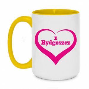 Kubek dwukolorowy 450ml I love Bydgoszcz