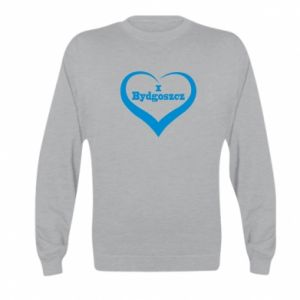 Kid's sweatshirt I love Bydgoszcz