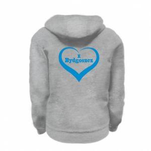 Kid's zipped hoodie % print% I love Bydgoszcz