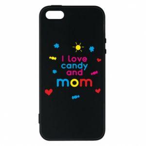 Etui na iPhone 5/5S/SE I love candy and mom