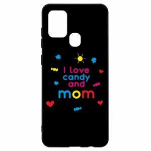 Etui na Samsung A21s I love candy and mom