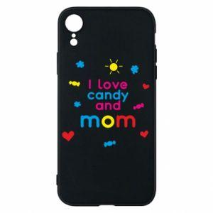 Etui na iPhone XR I love candy and mom