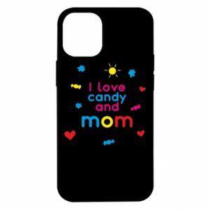 Etui na iPhone 12 Mini I love candy and mom