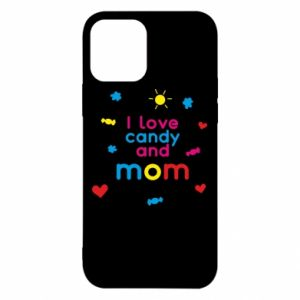 Etui na iPhone 12/12 Pro I love candy and mom