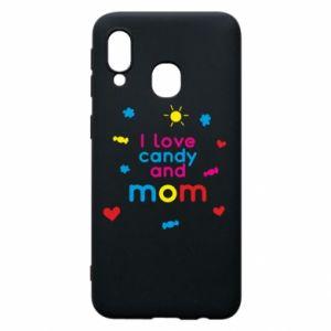 Etui na Samsung A40 I love candy and mom